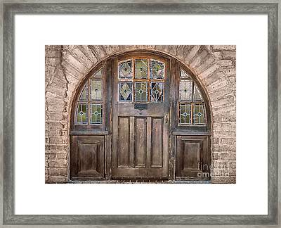Old Archway And Door Framed Print