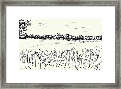 Old Arm Of The River Elbe Framed Print by Chani Demuijlder