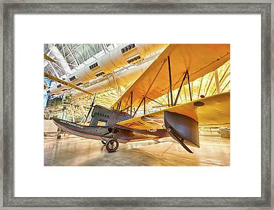 Framed Print featuring the photograph Old Army Biplane by Lara Ellis