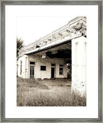 Old Art Deco Filling Station Framed Print