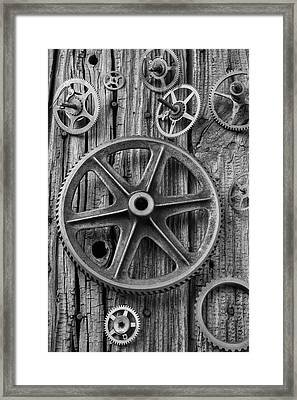 Old Assorted Gears Framed Print