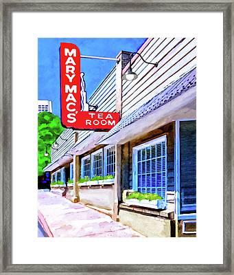 Old Atlanta - Mary Mac's Tea Room Framed Print