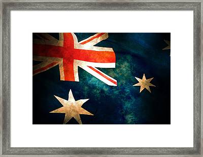 Old Australian Flag Framed Print by Phill Petrovic