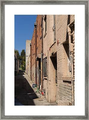 Old Back Alley Petaluma California Usa Dsc3860 Framed Print by Wingsdomain Art and Photography