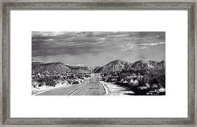 Old Back Road Framed Print by Carolina Liechtenstein