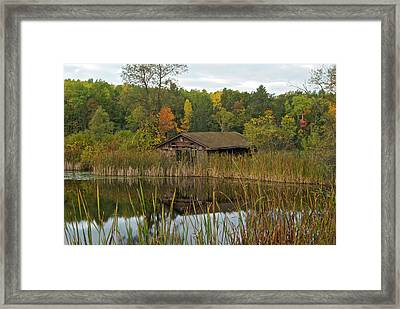 Old Bait Shop On Twin Lake_9626 Framed Print
