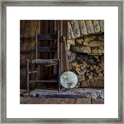Old Banjo Framed Print by Heather Applegate