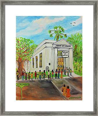 Old Bank Of Hawaii, Waialua  Framed Print by Julie Patacchia