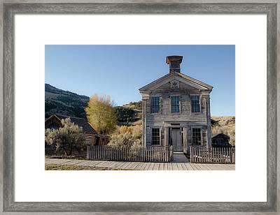 Old Bannack Schoolhouse And Masonic Temple 4 Framed Print by Teresa Wilson