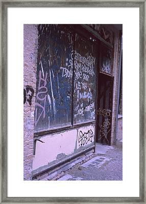 Old Bar, Old Graffitis Framed Print