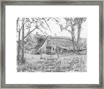 Old Barn 2 Framed Print by Barry Jones