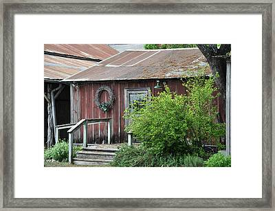 Old Barn 2 Framed Print by Teresa Blanton