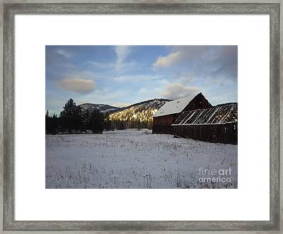 Framed Print featuring the photograph Old Barn 2 by Victor K