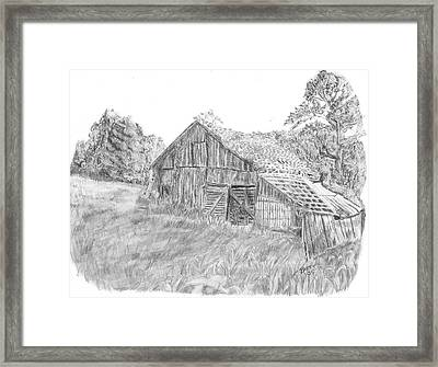 Old Barn 3 Framed Print by Barry Jones