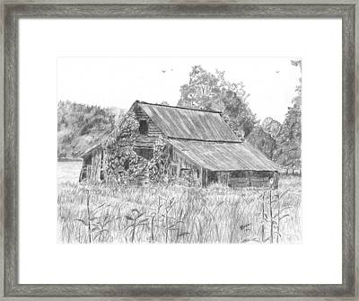 Old Barn 4 Framed Print by Barry Jones
