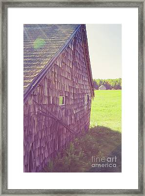 Old Barn Andover New Hampshire Sun Flare Framed Print