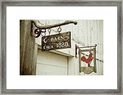 Old Barn Framed Print by Andrew Kubica