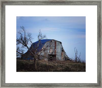 Framed Print featuring the photograph Old Barn At Hilltop Arkansas by Michael Dougherty