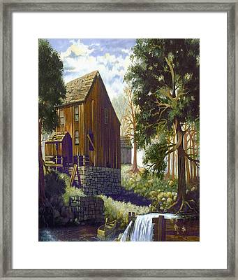 Old Barn At Riverbend Framed Print by Donn Kay