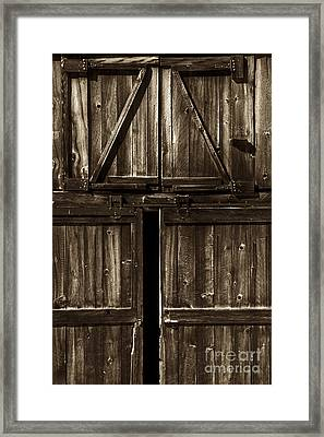 Old Barn Door - Toned Framed Print by Paul W Faust -  Impressions of Light