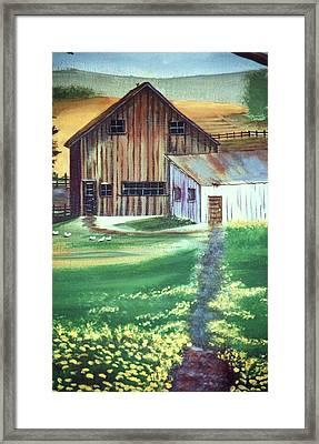 Old Barn Framed Print by Eileen Blair
