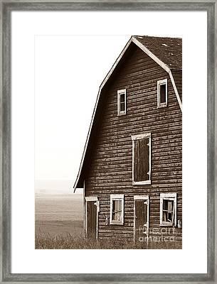 Old Barn Front Framed Print