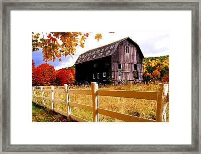 Old Barn In Autumn Framed Print
