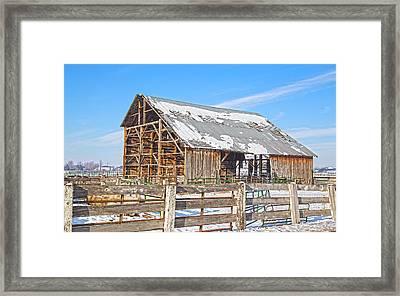 Old Barn In Idaho Framed Print