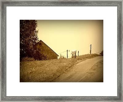 Old Barn  Framed Print by Keith  Senecal