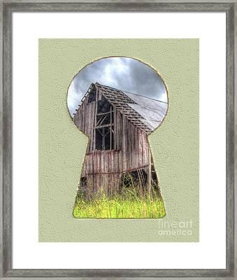Old Barn Keyhole Framed Print