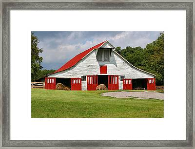 Old Barn Framed Print by Kristin Elmquist
