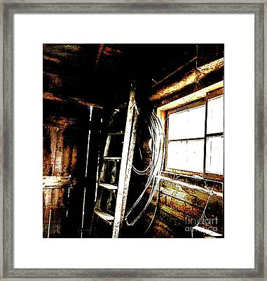 Old Barn Ladder Framed Print