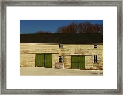 Old Barn Framed Print by Lois Lepisto
