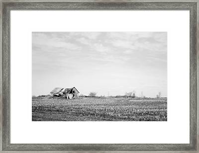 Old Barn Framed Print by Martin Rochefort