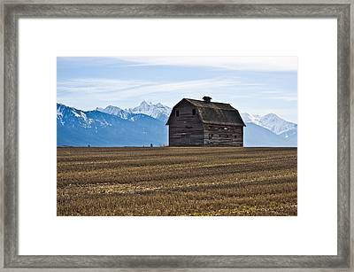 Old Barn, Mission Mountains 2 Framed Print