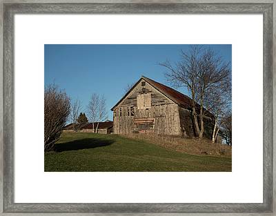 Old Barn On A Hill Framed Print