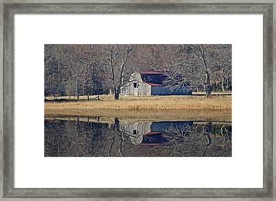 Framed Print featuring the photograph Old Barn by Rick Friedle