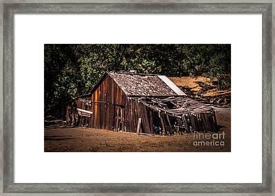 Old Barn River Road Sonoma County Framed Print