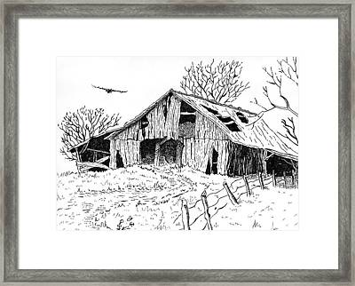Old Barn Framed Print by Shania Brown
