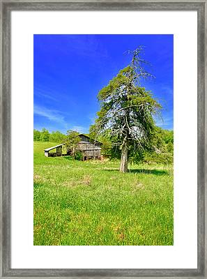Old Barn, Smith Mountain Lake Framed Print