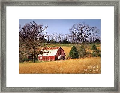 Old Barn Framed Print by Tamyra Ayles