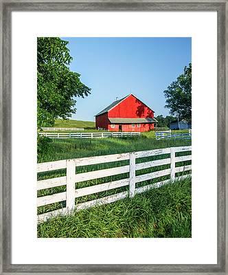 Old Barn Framed Print by Todd Klassy