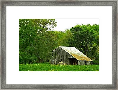Old Barn V Framed Print