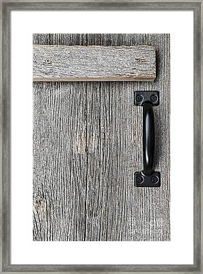 Old Barn Wood Door Framed Print