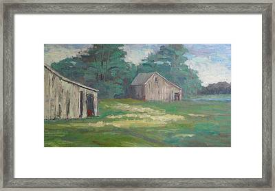 Old Barns Framed Print