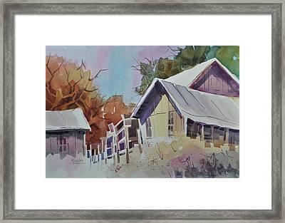 Old Barns Framed Print by Spencer Meagher
