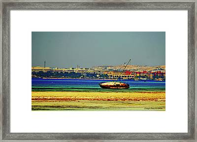 Old Barque Framed Print by Chaza Abou El Khair