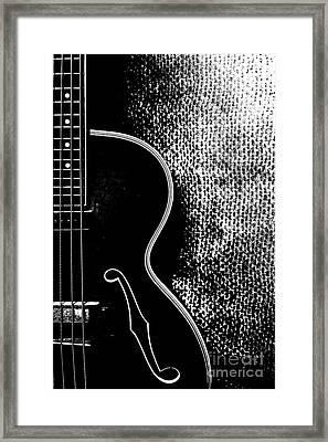 Old Bass Guitar Framed Print