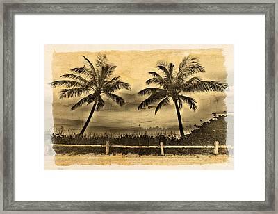 Old Beach Framed Print by Debra and Dave Vanderlaan