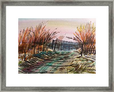 Old Beach Road Framed Print by John Williams